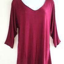 Red Haute Top Sz M Nordstroms Rack Nwt Wine Pullover Shirt  Photo
