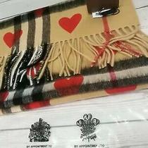 Red Heart Bueberry Scarf Winter Classic Burberry Scarf - 33165 Cm - Without Box Photo