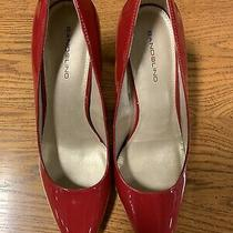 Red High Heels Bandolino Womens Fairbury Classic Pumps Pointed Toe Slip Size 10 Photo