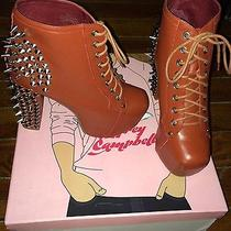 Red Jeffrey Campbell Studded Lita Boots Size 7 (W/ Box and Ex. Studs) Photo
