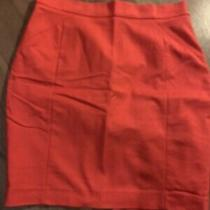 Red Knee Length Pencil Skirt- h&m Size 18 Photo