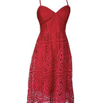 Red Lace Corset Dress Crochet Flattering Photo