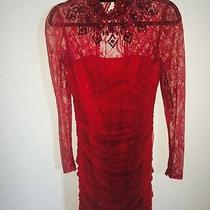 Red Lace Dress Xs Photo
