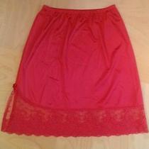 Red Lace Nylon Half Slip Vanity Fair Slip Skirt Ahs Sister Jude Lingerie Size M Photo