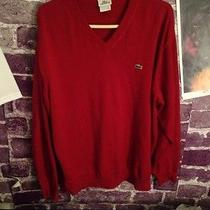 Red Lacoste Sweater Photo