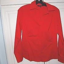 Red Lafayette 148 Size 4 Red Blouse Photo