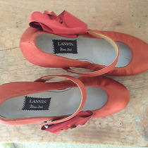 Red Lanvin Dress Shoes With Red Bows Photo