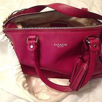 Red Leather Coach Purse Photo