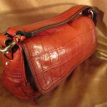  Red Leather Fossil Croc Style   Shoulder  Bag  Photo