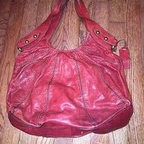 Red Leather Fossil Handbag Photo