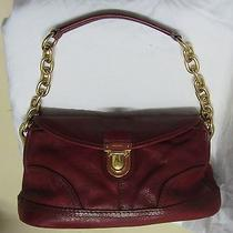 Red Leather Prada Handbag Photo