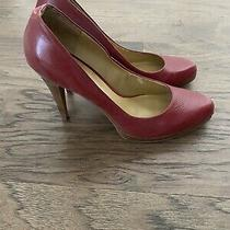 Red Leather Pumps Size 8 Nine West Photo