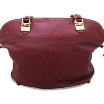 Red Leather Shoulder Bag Photo