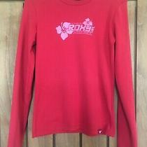 Red Long Sleeve Roxy Top Size 2 Photo