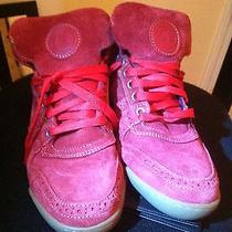 Red Luxury Sneakers Photo