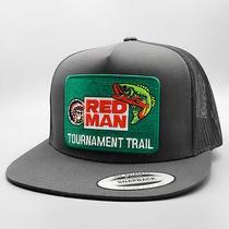 Red Man Trucker Hat Vintage Trucker Tobacco Patch on Flatbill Fishing Hat Photo