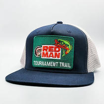 Red Man Vintage Trucker Hat Fishing Hat Mesh Snapback Baseball Cap Photo