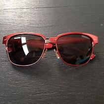Red Metal Balenciaga Sunglasses Photo