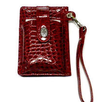 Red Milano Wrist Wallet Credit Card Phone Holder Faux Croc Teen Women Gift Photo