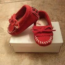 Red Minnetonka Infant Moccasins Photo