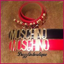Red Moscino Belt Photo