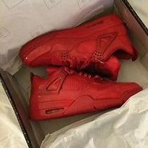 Red Patent Leather Air Jordan Iv Elements Collection Men's Size 11.5 New W Box Photo