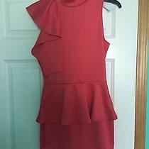 Red Peplum Dress Summer Wedding Clubing Christmas  Dress Photo