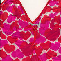Red/pink Hearts Cosabella Babydoll Nightie Open in Lower Front 30-32 a-B Photo