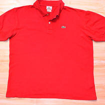 Red Polo Shirt Lacoste Devanlaysize L (5)  Photo