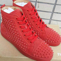 Red/red Spike Mens Christian Louboutins (Red Bottoms) Message for Size Photo