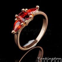 Red Simple Shine Designs  Gold Filled  C.z Women Lady Rings Pm0060 Size 10 Photo