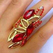 Red Swarovski Crystal Ring   Photo