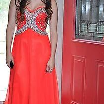 Red Tiffany Prom Style Dress Photo