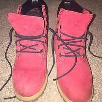 Red Timberland Boots  Photo