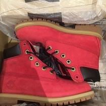 Red Timberlands Size 4.5 Photo