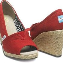 Red Toms Wedges - Size 7 Photo