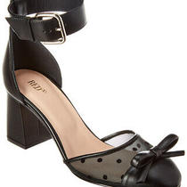 Red Valentino Ankle Wrap Leather & Mesh Pump Women's Black 38 Photo