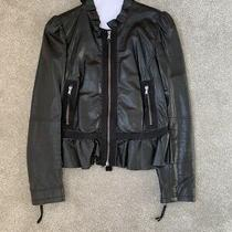 Red Valentino Black Leather Jacket. Size Italian 44. Excellent Condition. Photo