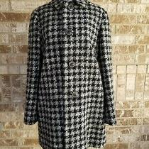 Red Valentino Black White Tweed Coat Size 40 Made in Italy  Photo