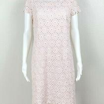 Red Valentino Dress Blush-Pink Floral 'Lace' Eyelet Size 44 Us 6 - Ntsf Photo