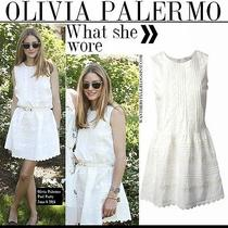 Red Valentino Dress Size 38 or Xs White Sleeveless as Seen on Olivia Palermo Photo