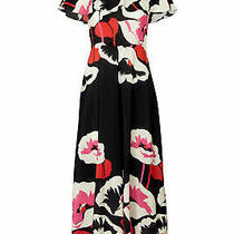 Red Valentino Women Dress Black Size 0 (It 38) Ruffle High-Neck Silk 1285- 285 Photo
