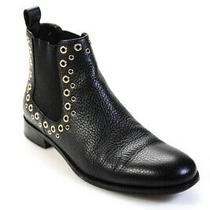 Red Valentino Womens Leather Studded Booties Black Gold Size 40 10 Photo