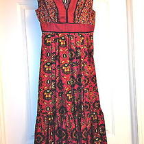Red Vintage Inspired Dress by Anthropologie Tracy Reese Plenty Size 0 Photo
