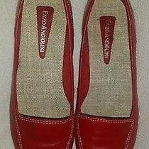 Red Women Flat Dress Shoes.  size7.5. Enzo Angiolini Brand Name  Photo
