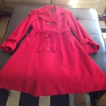 Red Wool Trench Coat  Photo