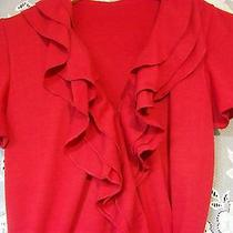 Red Wrap Dress Size Women's Xs Knee Lenght Avon Like New Photo