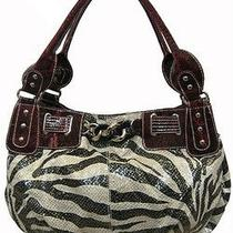 Red Zebra Handbag With Rhinestone Buckle- Brand New- Only 4 Left in Stock Photo