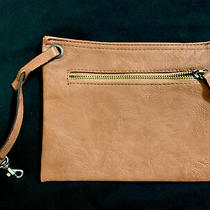 Reddish Brown Leather Clutch 8 X 6 With Hook Excellent Condition Photo
