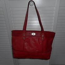 Reddish/orange Large Fossil Tote Bag/shoulder Bag - Euc Photo